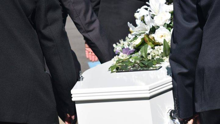 Wrongful death Casket being carried to a funeral